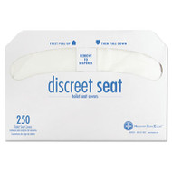 Discreet Seat Half-Fold Toilet Seat Covers, White, 250/Pack, 20 Packs/Carton