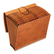 Heavy-Duty Expanding File, 12 Pockets, 1/3 Tab, Letter, Brown