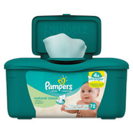 Natural Clean Baby Wipes, Unscented, White, Cotton, 72/Tub, 8 Tub/Carton