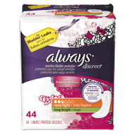 Discreet Sensitive Bladder Protection Liners, Very Light, X-Long,44/Pack