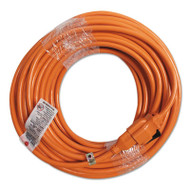 Indoor Extension Cord, Locking Plug, 100ft, Orange