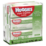 Natural Care Baby Wipes, Unscented, White, 56/Pack, 3-Pack/Box, 3 Box/Carton