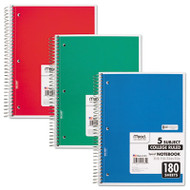 Spiral Bound Notebook, Perforated, College Rule, 10 ½ x 8, White, 180 Sheets