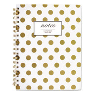 Gold Dots Hardcover Notebook, 9 1/2 x 7, 80 Sheets