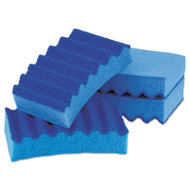 Durable Heavy Duty Scrub Sponges, 4 1/5 x 2 1/2 x 9/10, Blue, 4/Pack