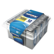 Alkaline Battery, 9V, 12/Pack
