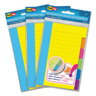 Divider Sticky Notes with Tabs, Assorted Colors, 60 Sheets/Set, 3 Sets/Box