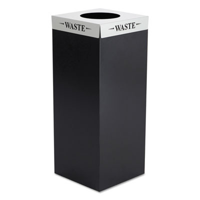 Square-Fecta Lid, Waste, Silver