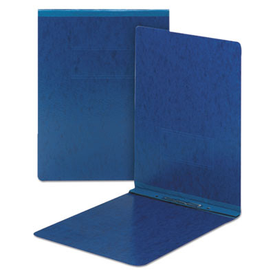 Top Opening Pressboard Report Cover, Prong Fastener, 8 1/2x11, Dark Blue