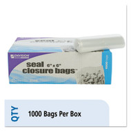 Envision Zipper Seal Closure Bags, Clear, 6 x 6, 1000/Carton
