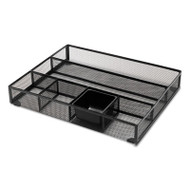 Metal Mesh Drawer Organizer, 15 x 11 7/8 x 2 1/2, Black