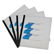 Clear View Report Cover with Slide-on Binder Bar, 20 Sheets, Black, 25 per pack