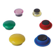 "Assorted Magnets, Plastic, 1 1/2"" dia, 1 3/8"" dia, 3/4 dia, Asst Colors, 30/PK"