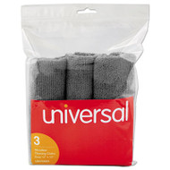 Microfiber Cleaning Cloth, 12 x 12, Gray, 3/Pack