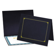 Certificate/Document Cover, 8 1/2 x 11 / 8 x 10 / A4, Navy, 6/PK