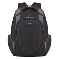 """Launch Laptop Backpack, 17.3"""", 12 1/2 x 8 x 19 1/2, Black/Gray/Red"""