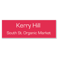Customized Engraved Name Badge With Magnetic Fastener, 1 x 3, Assorted