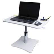 Adjustable Laptop Stand w/Storage Cup, 23 3/4 x 15 1/4 x 12 15 3/4, White/Chrome