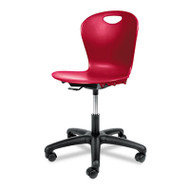 Adjustable-Height Task Chair, 24-1/8w x 24-1/8d x 30–34-1/2h, Red
