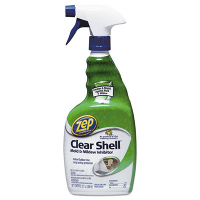Clear Shell Mold & Mildew Inhibitor, 32 oz Spray Bottle, 12/Carton
