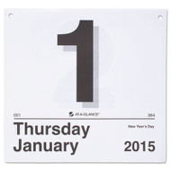 """""""Today Is"""" Daily Wall Calendar Refill, 8 1/2 x 8, White, 2017"""