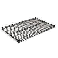 Industrial Wire Shelving Extra Wire Shelves, 36w x 24d, Black, 2 Shelves/Carton