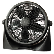 "16"" Super-Circulation 3-Speed Tilt Fan, Plastic, Black"