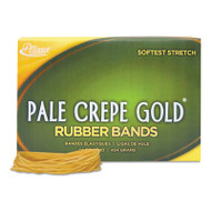 Pale Crepe Gold Rubber Bands, Sz. 19, 3-1/2 x 1/16, 1lb Box