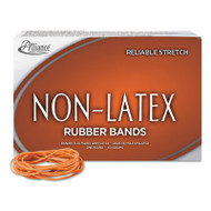 Non-Latex Rubber Bands, Sz. 19, Orange, 3-1/2 x 1/16, 1750 Bands/1lb Box
