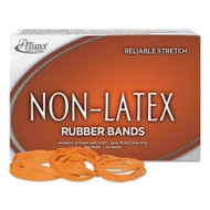 Non-Latex Rubber Bands, Sz. 54, Orange, Sizes 19/33/64 (Mix), 1lb Box