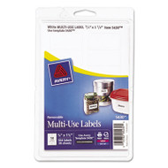 Removable Multi-Use Labels, 3/4 x 1 1/2, White, 504/Pack