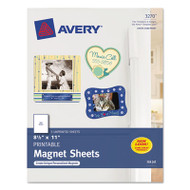 Printable Inkjet Magnet Sheets, 8 1/2 x 11, White, 5/Pack