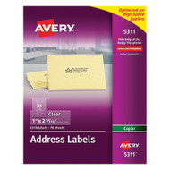 Clear Easy Peel Copier Address Labels, 1 x 2 13/16, 2310/Pack