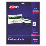 Printable Microperf Business Cards, Laser, 2 x 3 1/2, Ivory, Uncoated, 250/Pack