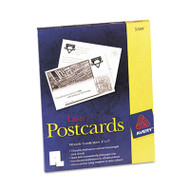 Postcards for Laser Printers, 4 x 6, Uncoated White, 2/Sheet, 100/Box