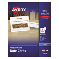 Note Cards for Inkjet Printers, 4 1/4 x 5 1/2, Matte White, 60/Pack w/Envelopes