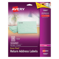 Clear Easy Peel Return Address Labels, Laser, 1/2 x 1 3/4, 800/Pack