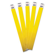 Crowd Management Wristbands, Sequentially Numbered, 10 x 3/4, Yellow, 100/Pack