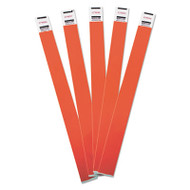 Crowd Management Wristbands, Sequentially Numbered, 10 x 3/4, Red, 500/Pack