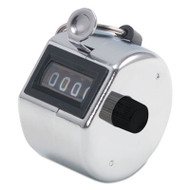 Tally I Hand Model Tally Counter, Registers 0-9999, Chrome