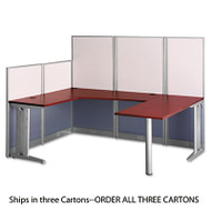 Office in an Hour U-Workstation (Box 3 of 3), Hansen Cherry/Silver