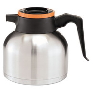 1.9 Liter Thermal Carafe, Stainless Steel/ Black and Orange (Decaf)