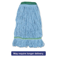 Blue Dust Mop Head, Medium, Looped End