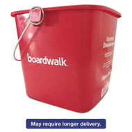 Kleen-Pail Sanitizing Bucket, 6 qt, Red, Plastic