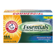 Essentials Dryer Sheets, Mountain Rain, 144 Sheets/Box