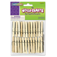 Wood Spring Clothespins, 3 3/8 Length, 50 Clothespins/Pack