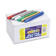 Glitter Glue Pens, Assorted, 10 cc Tube, 72/Pack