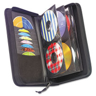 CD/DVD Wallet, Holds 72 Discs, Black