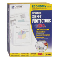 "Economy Weight Poly Sheet Protector, Reduced Glare, 2"", 11 x 8 1/2, 200/BX"