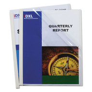 """Report Covers with Binding Bars, Vinyl, Clear, 1/8"""" Capacity, 50/Box"""